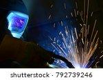 welder  craftsman  erecting... | Shutterstock . vector #792739246