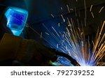 welder  craftsman  erecting... | Shutterstock . vector #792739252