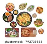 food to respect god of fortune... | Shutterstock . vector #792739585