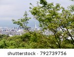 a glance to the skyline of... | Shutterstock . vector #792739756