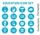 education icon set design | Shutterstock .eps vector #792746902