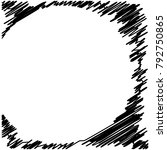circle hatching grunge graphite ... | Shutterstock .eps vector #792750865