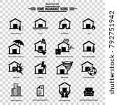 house and home insurance icon...   Shutterstock .eps vector #792751942