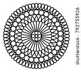 simple floral mandala print.... | Shutterstock .eps vector #792755926