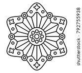 Simple Floral Mandala Print....