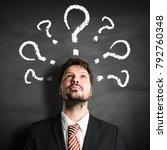 businessman having many... | Shutterstock . vector #792760348