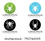 spider logo and symbols...   Shutterstock .eps vector #792764245