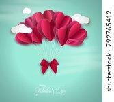 vector illustration.valentine's ... | Shutterstock .eps vector #792765412