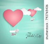 vector illustration.valentine's ... | Shutterstock .eps vector #792765436