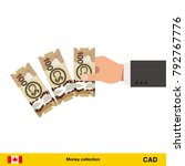throwing three canadian dollar. ... | Shutterstock .eps vector #792767776