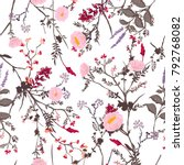 trendy  floral pattern in the... | Shutterstock .eps vector #792768082