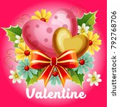 valentine illustration with... | Shutterstock .eps vector #792768706