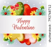 valentine card with yellow... | Shutterstock .eps vector #792768712