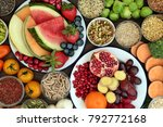 health food concept with fresh... | Shutterstock . vector #792772168
