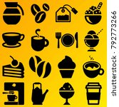 cafe vector icon set consisting ... | Shutterstock .eps vector #792773266