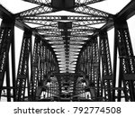black and white looking up at... | Shutterstock . vector #792774508