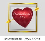valentine's day  red wounded... | Shutterstock .eps vector #792777745