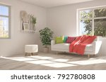 idea of white room with sofa... | Shutterstock . vector #792780808