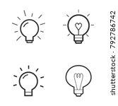 light bulb vector line icon set.   Shutterstock .eps vector #792786742