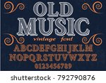 font alphabet script typeface...   Shutterstock .eps vector #792790876