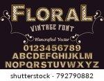 font alphabet script typeface... | Shutterstock .eps vector #792790882