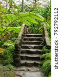 Stone Steps In The Lush Garden...