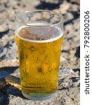a cold pint of refreshing beer... | Shutterstock . vector #792800206
