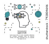 head of the tomorrow | Shutterstock .eps vector #792804646
