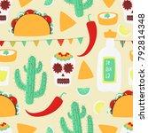 cinco de mayo  mexican vector... | Shutterstock .eps vector #792814348