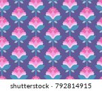 seamless retro pattern with... | Shutterstock .eps vector #792814915