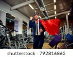 a businessman in a superhero... | Shutterstock . vector #792816862