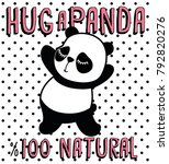 cute panda  sweet character for ...   Shutterstock .eps vector #792820276