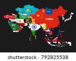 vector illustration of asia... | Shutterstock .eps vector #792825538