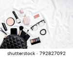 women's fashion. black handbag  ... | Shutterstock . vector #792827092