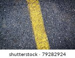 Asphalt Background With Yellow...