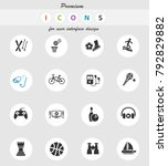 leisure web icons for user... | Shutterstock .eps vector #792829882