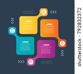 infographic template with 4... | Shutterstock .eps vector #792832372