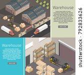 isometric warehouse exterior of ...   Shutterstock .eps vector #792833626