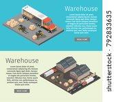 isometric warehouse exterior of ... | Shutterstock .eps vector #792833635