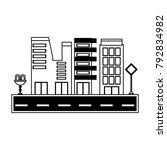 city buildings design | Shutterstock .eps vector #792834982