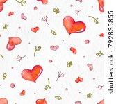 seamless valentine pattern with ... | Shutterstock . vector #792835855