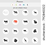mammals web icons for user... | Shutterstock .eps vector #792840322
