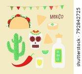 cinco de mayo  mexican vector... | Shutterstock .eps vector #792842725