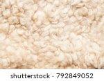 sheep fur. wool texture.... | Shutterstock . vector #792849052