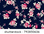 Stock vector seamless floral pattern in vector 792850636