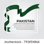 pakistan flag background | Shutterstock .eps vector #792854866