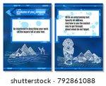 brochure sands ancient egypt on ... | Shutterstock .eps vector #792861088