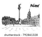 black and white postcard polish ... | Shutterstock .eps vector #792861328