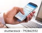 close up of a businessperson's... | Shutterstock . vector #792862552