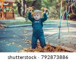child walking in the park. | Shutterstock . vector #792873886